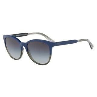 Emporio Armani Women's EA4101 55688G 56 Grey Gradient Cat Eye Sunglasses