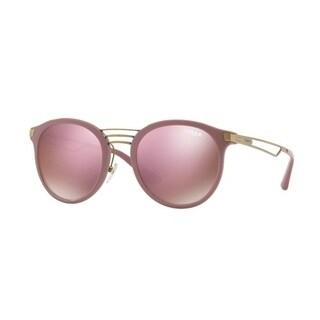 Vogue Women's VO5132S 25655R 52 Dark Brown Mirror Pink Oval Sunglasses