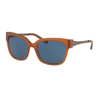 3e066ea3a007 Shop Tory Burch TY7110 Womens Gold Frame Blue Lens Square Sunglasses -  Brown - Free Shipping Today - Overstock - 18012861