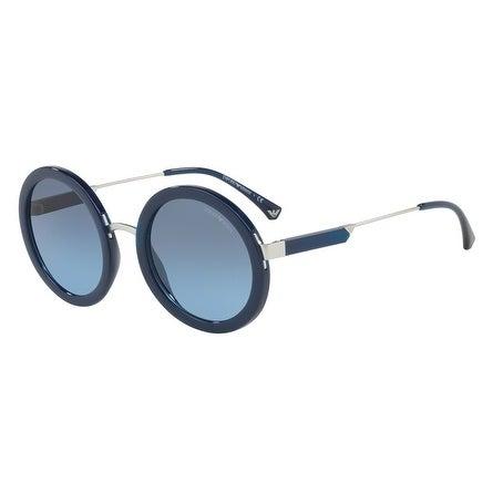 e8431a5d6b3c Shop Emporio Armani Women s EA4106 56128F 51 Blue Gradient Round Sunglasses  - Free Shipping Today - Overstock - 18012870