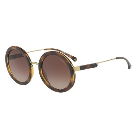 b1107d2b929 Shop Emporio Armani Women s EA4106 502613 51 Brown Gradient Round Sunglasses  - Free Shipping Today - Overstock - 18012879