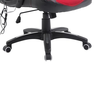 HomCom Modern Ergonomic PU Leather Heated Vibrating Massage Office Chair