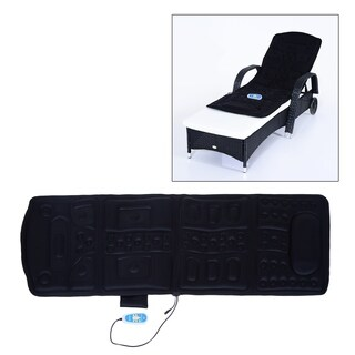 Soozier Ten Motor Heated Vibration Massage Plush Mat - black