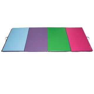 Soozier PU Leather Gymnastics Tumbling & Martial Arts Folding Mat