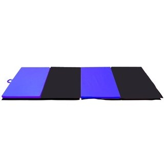Soozier PU Leather Gymnastics Tumbling & Martial Arts Folding Mat