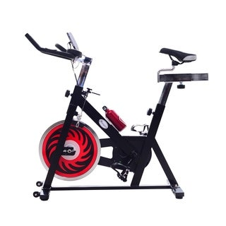Soozier Indoor Stationary Cycling Exercise Bike with LCD Display - Black