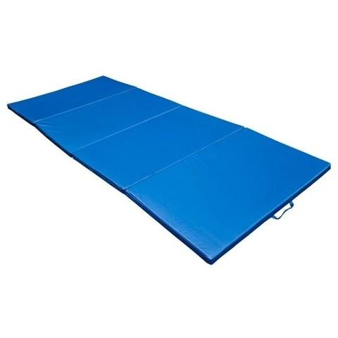 Soozier PU Leather Folding Martial Arts Gymnastics Mat