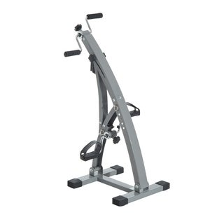 Soozier Upright Exercise Bike Total Body Recovery Training Machine - gray