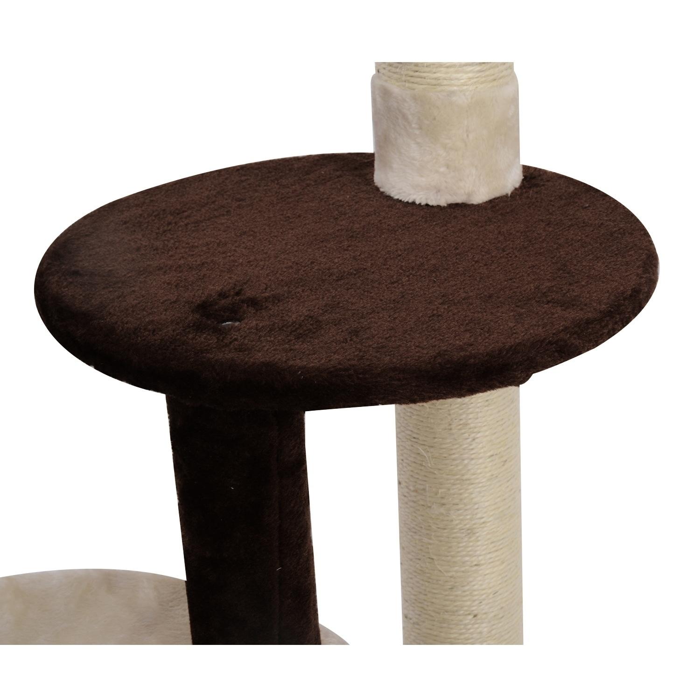 Aosom Pawhut Kitty Cat Tree Scratching Post Condo Tower F...