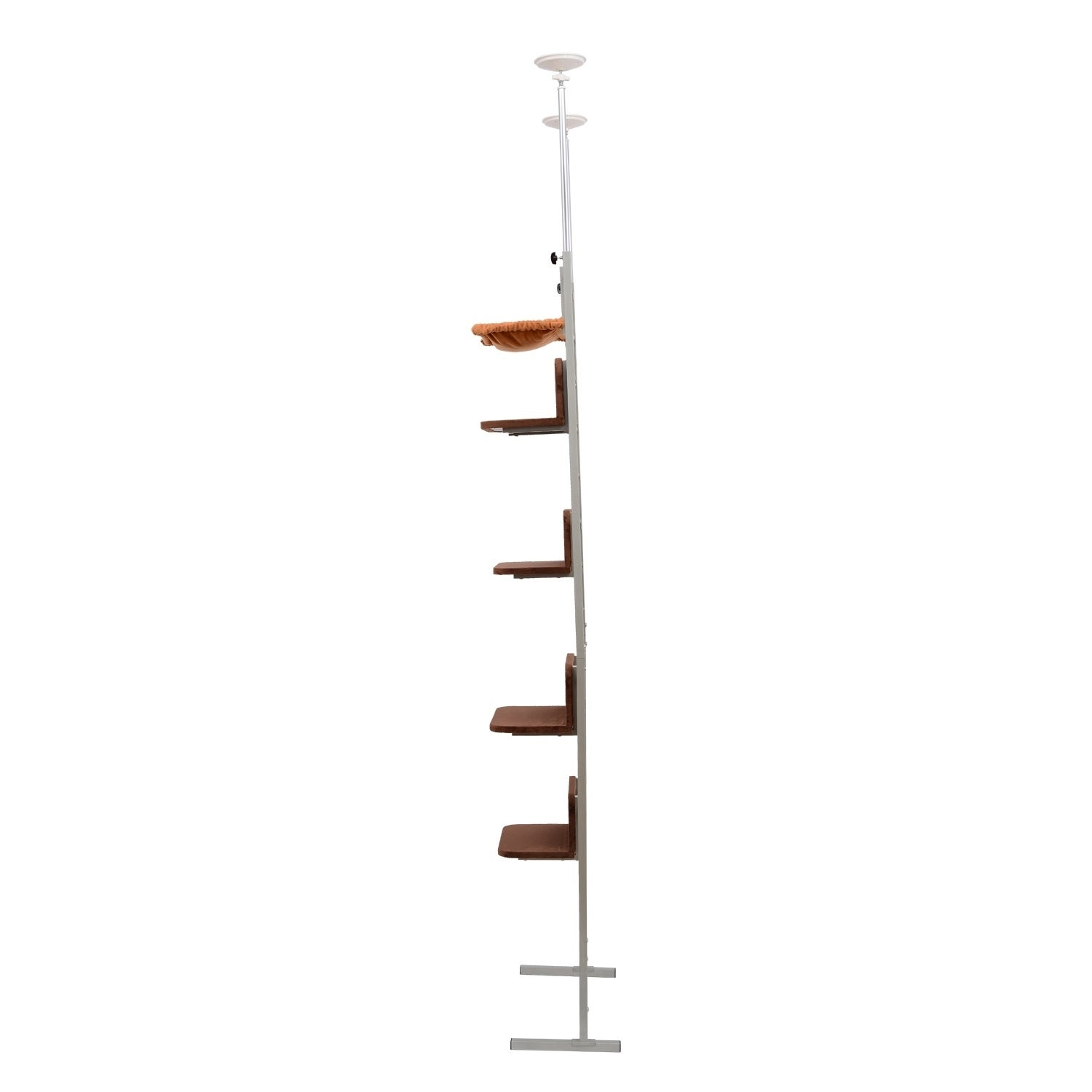 Aosom Pawhut Floor-to-Ceiling Adjustable Staggered Climbi...