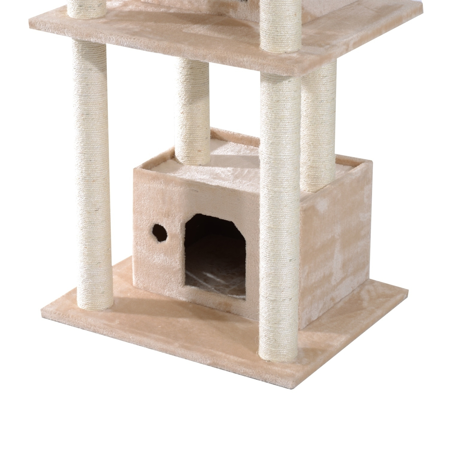 Aosom Pawhut Cat Tree Tower, Tan