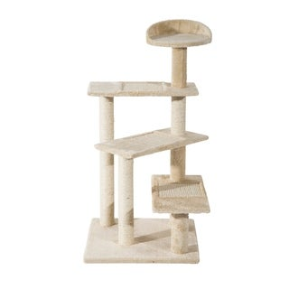 Pawhut Multi-Platform Scratching Post Cat Tree - beige