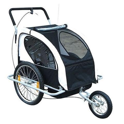 Aosom 2 in 1 Double Child Bike Trailer and Stroller