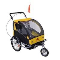 Aosom Elite II 3 in 1 Double Child Bike Trailer and Stroller