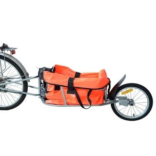Aosom Solo Single Wheel Bicycle Cargo Bike Trailer