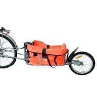 Aosom Solo Single Wheel Bicycle Cargo Bike Trailer