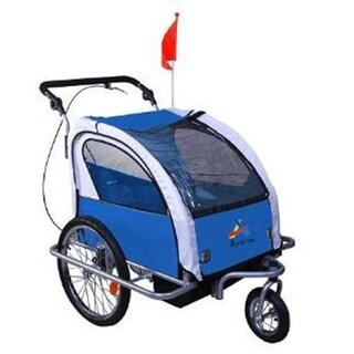 Aosom Elite II 3 in 1 Double Child Baby Bike Trailer and Stroller