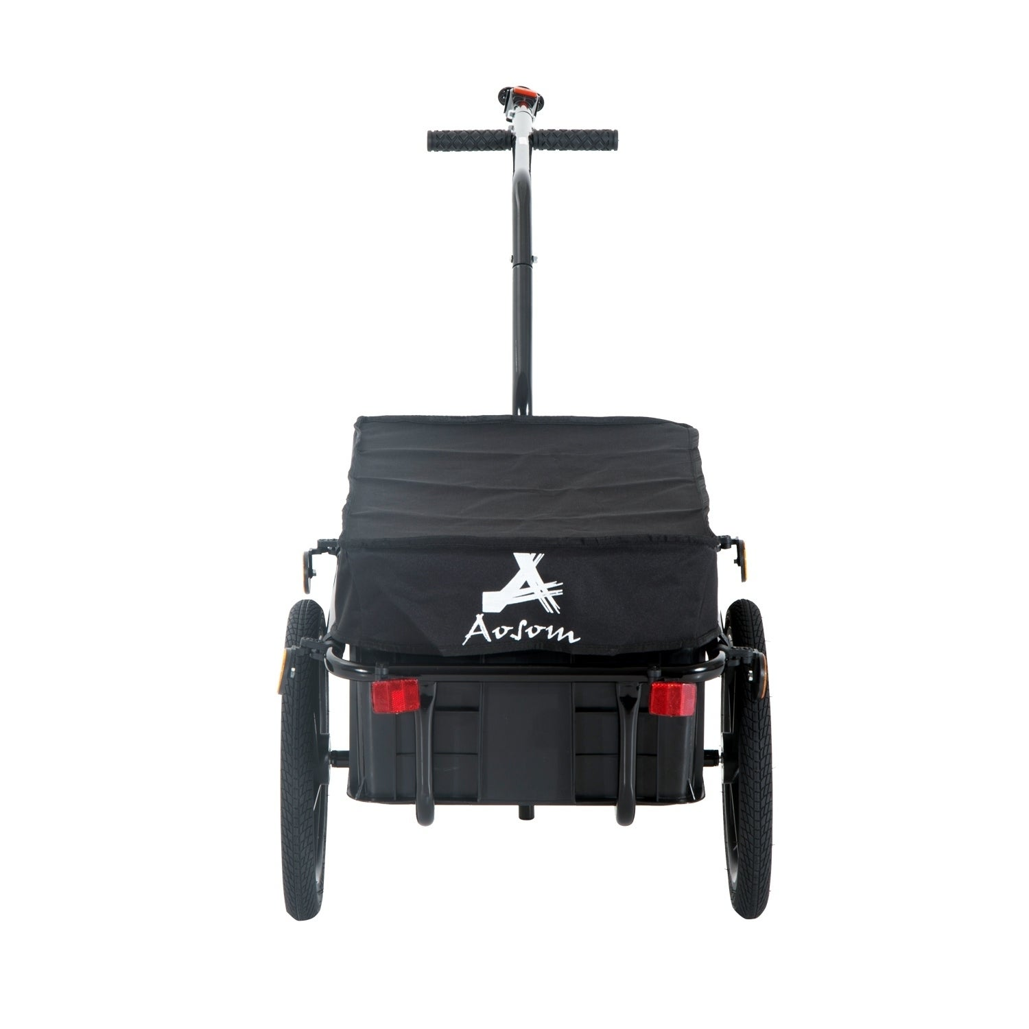 Aosom Double Wheel Internal Frame Enclosed Bicycle Cargo Bla