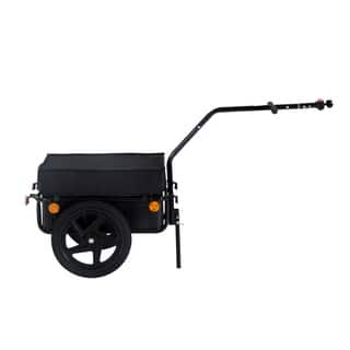 Aosom Double Wheel Internal Frame Enclosed Bicycle Cargo Trailer|https://ak1.ostkcdn.com/images/products/18013177/P24182799.jpg?impolicy=medium