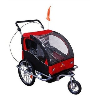 Aosom Elite II 3 in 1 Double Child Bike Trailer and Stroller