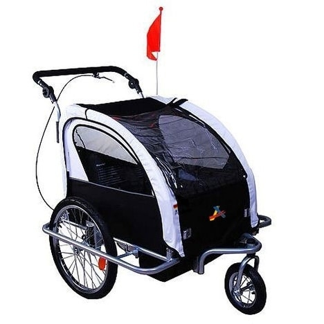42d68b038a8 Shop Aosom Elite II 3 in 1 Double Child Bike Trailer and Stroller - On Sale  - Free Shipping Today - Overstock - 18013188