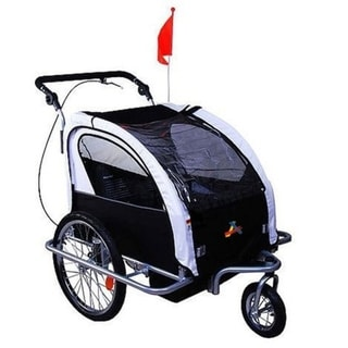 Link to Aosom Elite II 3 in 1 Double Child Bike Trailer and Stroller Similar Items in Cycling Equipment