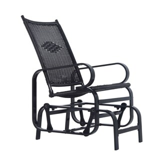 Outsunny Outdoor Antique Aluminum Wicker Gliding Chair