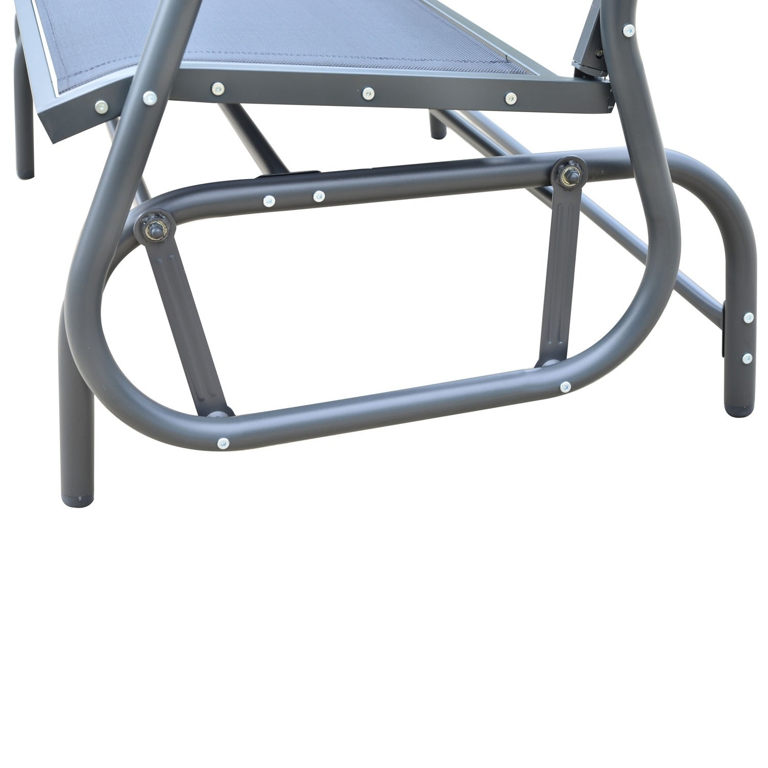 Aosom Outsunny Outdoor Patio Swing Glider Bench Chair, Bl...