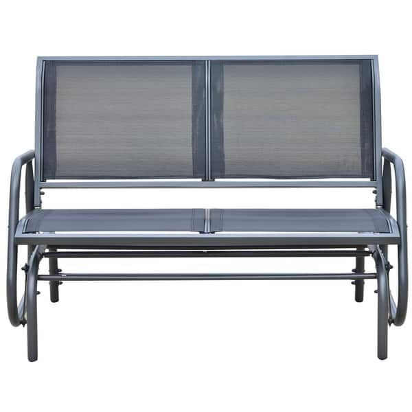 Outsunny Outdoor Patio Swing Glider Bench Chair Free