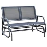 Outsunny Outdoor Patio Swing Glider Bench Chair