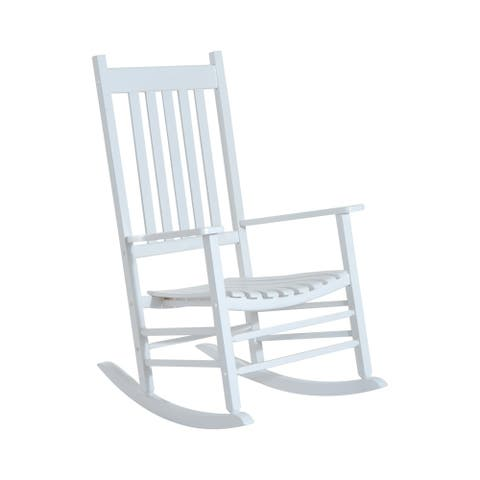 Outsunny Outdoor Porch or Patio Wooden Rocking Chair