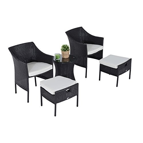 Shop Outsunny Rattan Wicker Outdoor Patio Furniture Leisure Set With