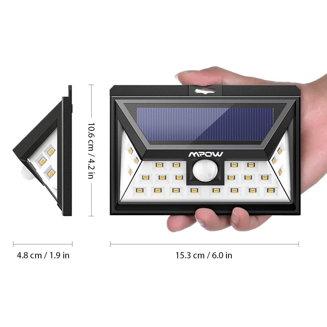 Mpow Solar Light, LED Outdoor Solar Powered, Wireless Wat...