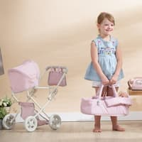 Olivia's Little World - Polka Dots Deluxe Stroller - Pink