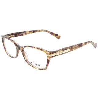 Coach Rectangle HC 6065 5287 Womens Confetti Light Brown Frame Eyeglasses