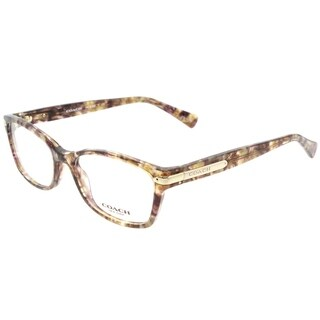 Coach Rectangle HC 6065 5287 Womens Confetti Light Brown Frame Eyeglasses