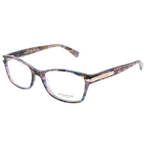 Coach Rectangle HC 6065 5288 Womens Confetti Purple Frame Eyeglasses
