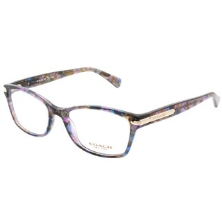 Coach Rectangle HC 6065 5288 Womens Confetti Purple Frame Eyeglasses
