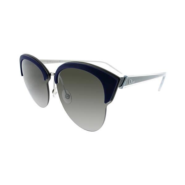 7d4bead201d2 Dior Fashion Run BMG Women Palladium Blue Black Frame Brown Gradient Lens  Sunglasses