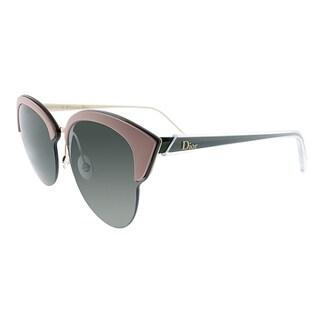 Dior Fashion Run BKL Women Gold Pink Green Frame Green Lens Sunglasses