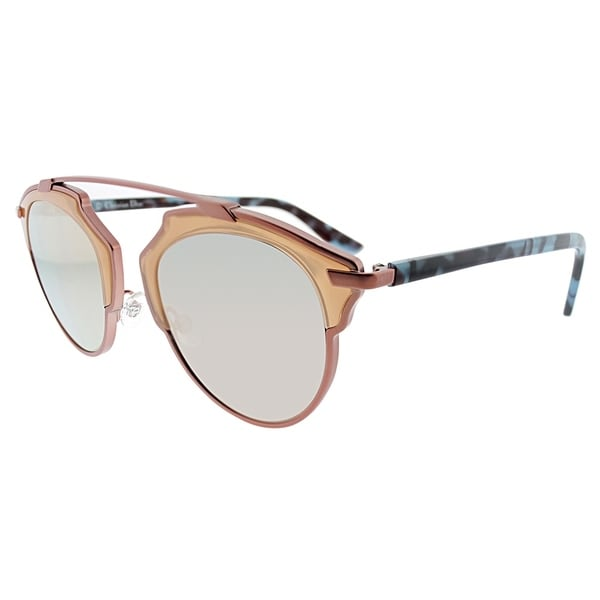 f48bab0d57c Dior Women  x27 s Soreal RJP Pink-framed Round Sunglasses with Pink Mirror