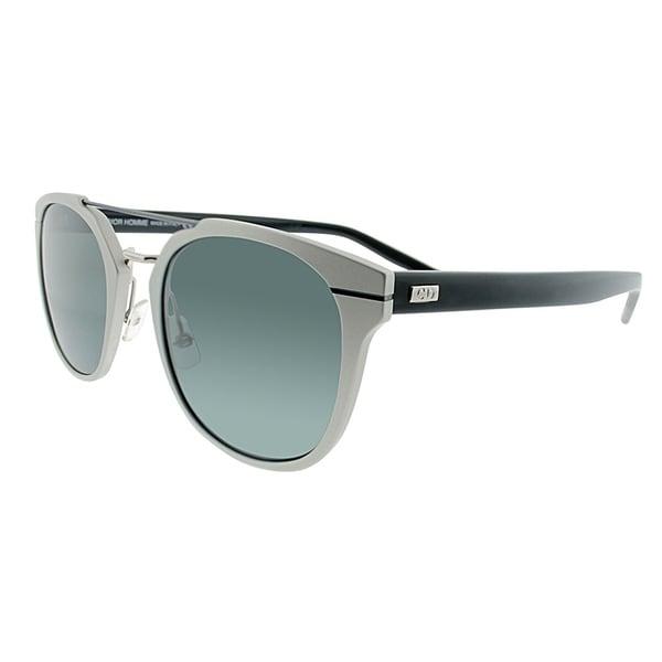 f88da3941d Dior Round AL 13.5 GQY Unisex Silver Blue Frame Grey Lens Sunglasses