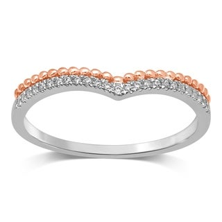 Unending Love Women's 10k Two-Tone Gold .07 ctw Diamond Fashion Band (More options available)