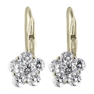 Forever Yours 14k Yellow Gold 1 ct TDW White Diamond Earrings (I-J, I2-I3)