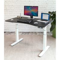 AIRLIFT White/ Black S3 Electric Standing Desk Frame With 54 in Top, Dual Motors (Max. Height 51.4 in) and 4 Memory Buttons