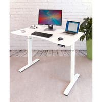 "Seville Classics AIRLIFT S2 Electric Standing Desk Frame /w 54"" Top and 4 Memory Buttons LED Height Display (Rises to 48.4"")"