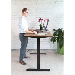 """Seville Classics AIRLIFT S2 Electric Standing Desk Frame /w 54"""" Top and 4 Memory Buttons LED Height Display (Rises to 48.4"""")"""