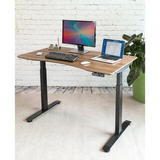 "AIRLIFT Electric S2 Standing Desk Frame /w 54"" Top with Dual Motors (Max. Height 48.4""), 4 Memory Buttons"