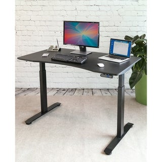 AIRLIFT Black Electric S2 Standing Desk Frame With 54 in Top, Dual Motors (Max. Height 48.4 in) and 4 Memory Buttons