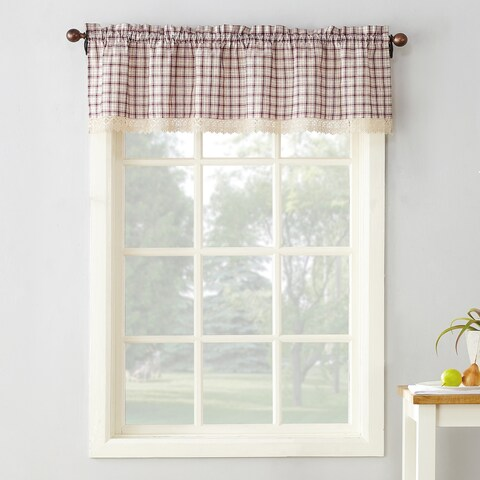 No. 918 Maisie Plaid Kitchen Curtain Valance - 54x14